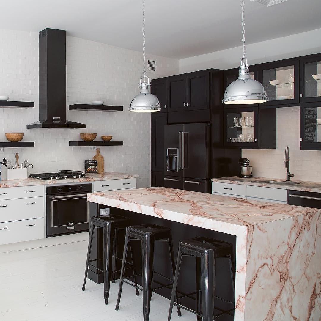 Pink Marble Via Apartment 34 Pinkmarble Curatedkitchen