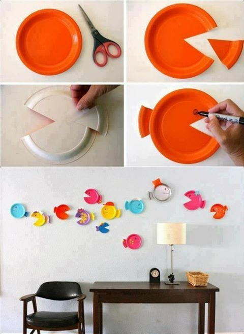 Paper Plate Fish craft for the kids : retirement paper plates - pezcame.com