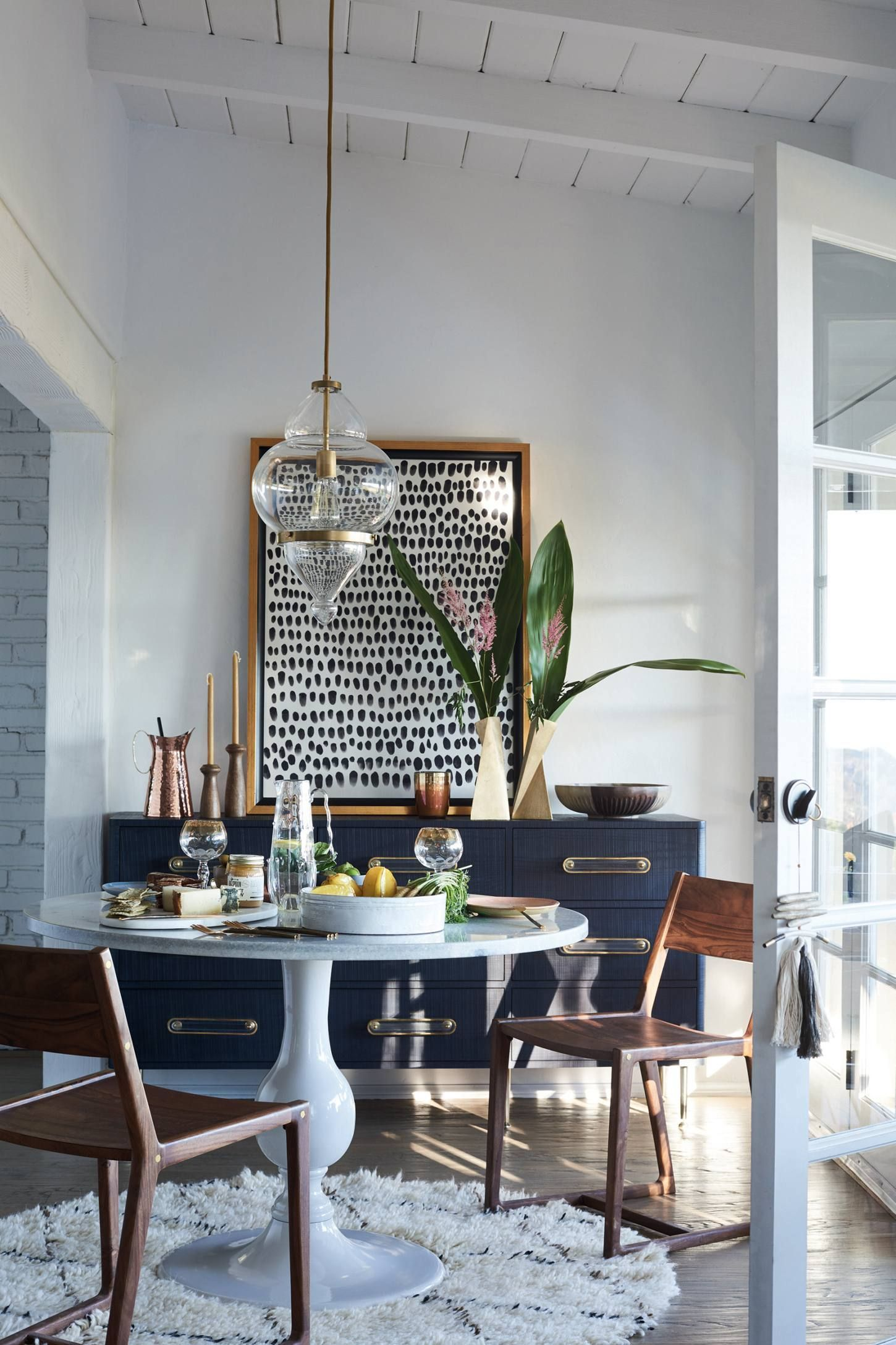 Pointillism Wall Art Dining Room Small Eclectic Dining Room Dining Room Decor