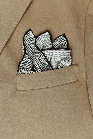 imperial plaid pocket square