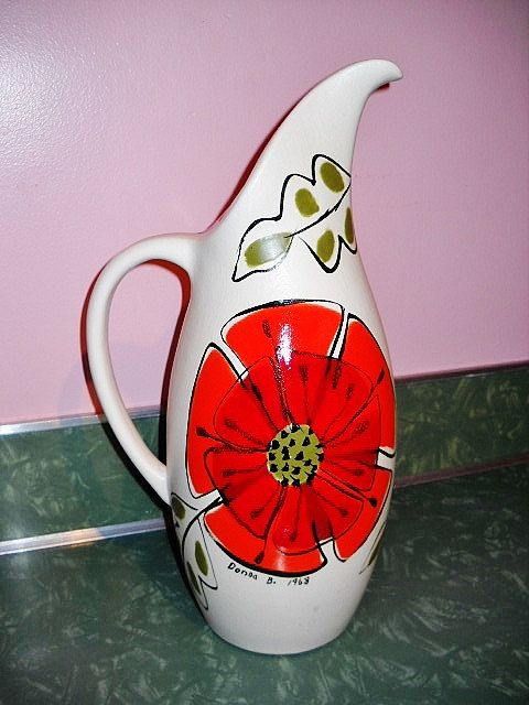 ROYAL HAEGER Mod PITCHER / Vase r41 Signed by TrippedOutAtomic, $49.00
