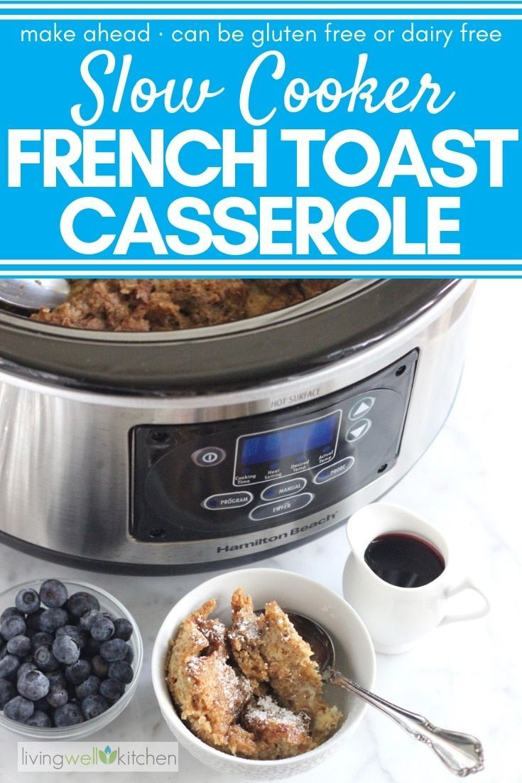 Cooker French Toast Casserole Do a few minutes of prep work to have breakfast cooking for you overnight. This easy Slow Cooker French Toast Casserole recipe is perfect for mornings when you do not want to turn on your oven or have to worry about cooking thanks to the crockpot. Easily made gluten free. Has only
