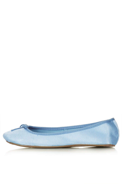 Sleeping Beauty blue satin ballet slippers