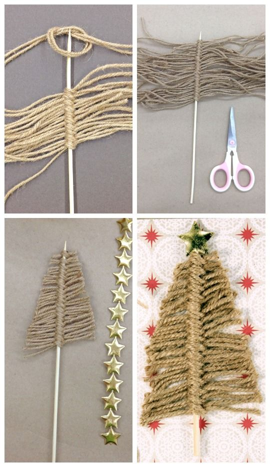 15 Simple Ideas for DIY Christmas Party 6 Twine Christmas Tree