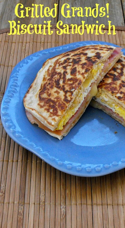 Grilled ham, egg and cheese Grands! Biscuit Sandwiches
