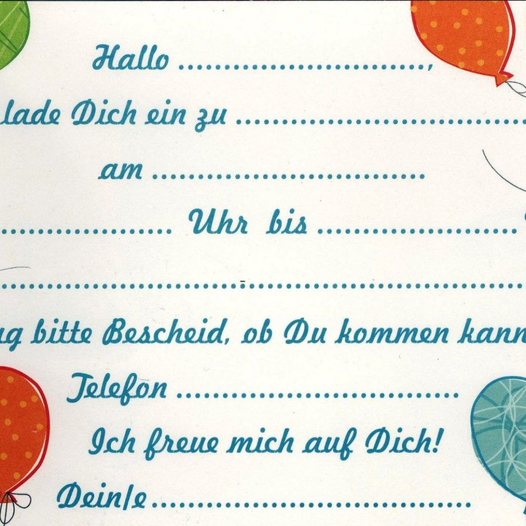Einladungskarte Kindergeburtstag Einladungskarte