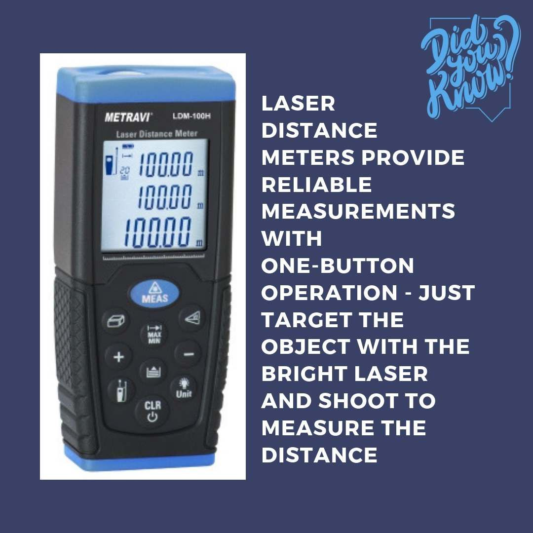 Did You Know 🤔⁉️ LASER DISTANCE METERS provide reliable