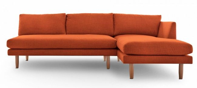 Mikan Corner Sofa Clean Lines And And Stylish Wooden Legs Perfect For A Contemporary Living Room Sofa Corner Sofa Corner Sofa Orange