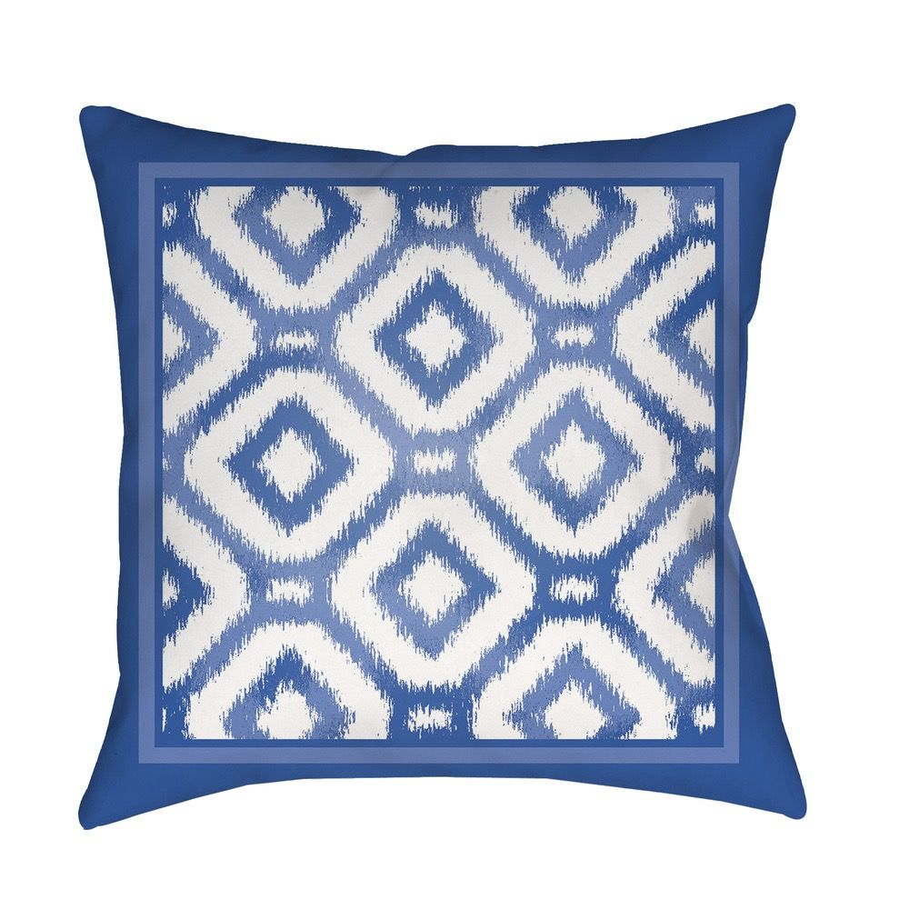 Blue and White Cordell Outdoor Pillow by Surya - Seven Colonial