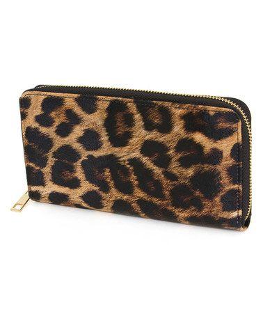 Brown Black Leopard Wallet By Rebecca Rifka