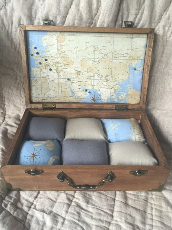 Global Map watch box – Can customize travels with pins Handmade Watch Case, Watch Box, Wood Watch Box, Watch Display, Custom Watch Box