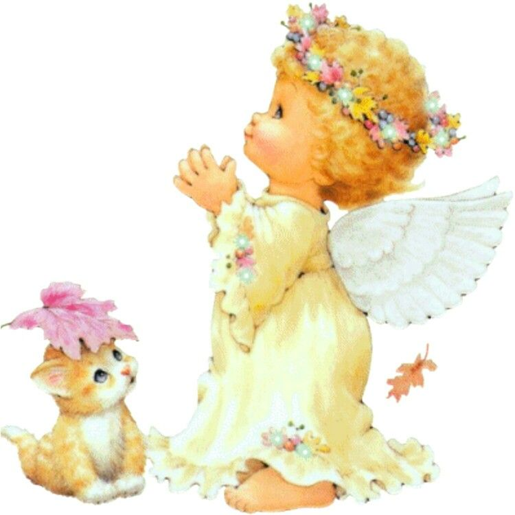 Открытки анимация ангелочки, днем рождения