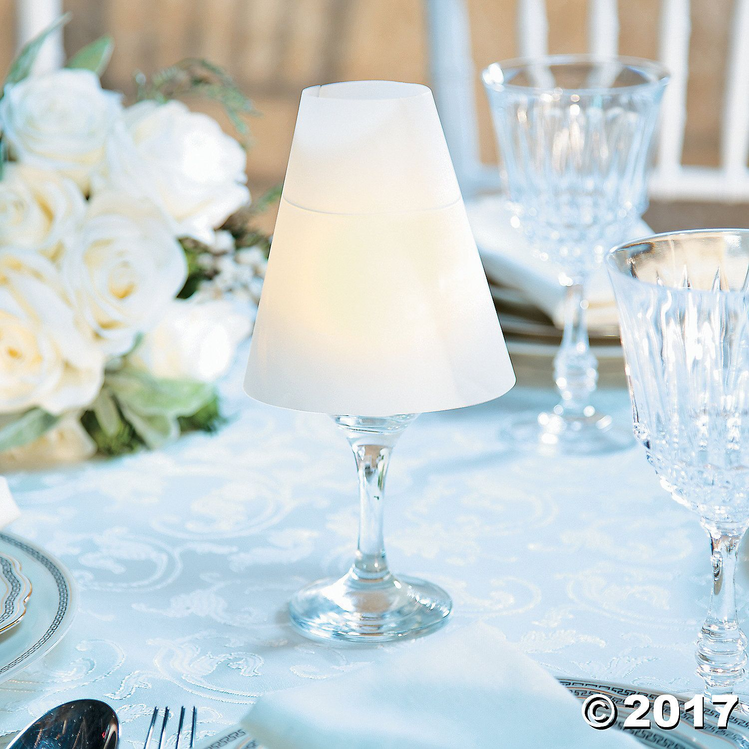 Wine Glass Lamp Shades   Centerpieces, Wedding and Weddings