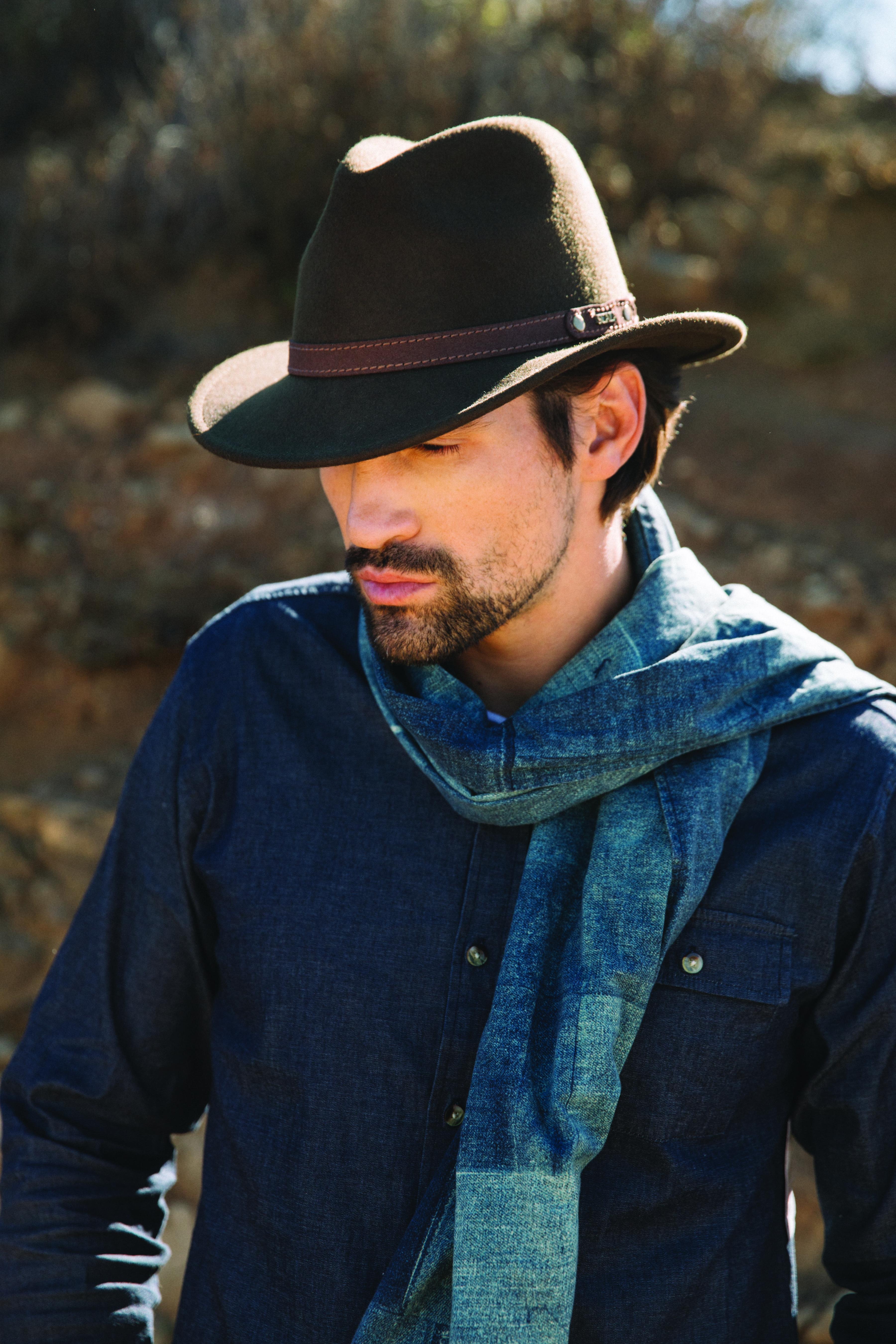 841dc5098c5 Men's outdoor fashion. Wool felt fedora hat. Scala | Men's Fashion ...