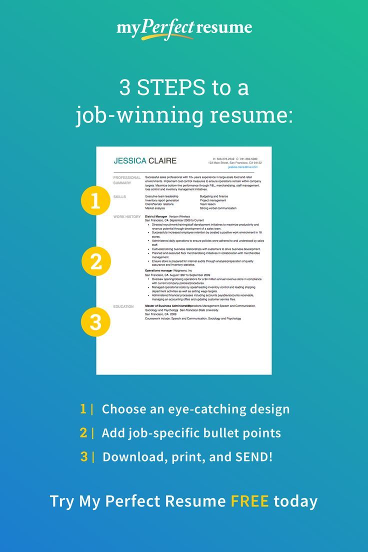 Perfect Resume Builder and more in 2020 Perfect resume