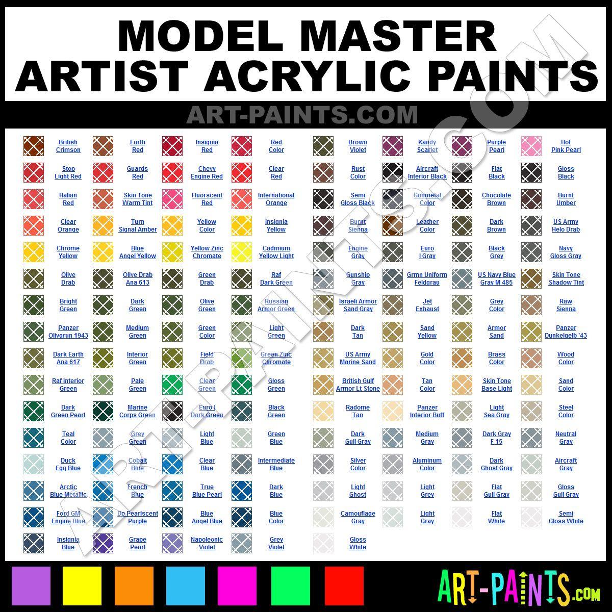 Master Paints Color Chart Archivosweb Com Paint Color Chart Paint Charts Color Chart