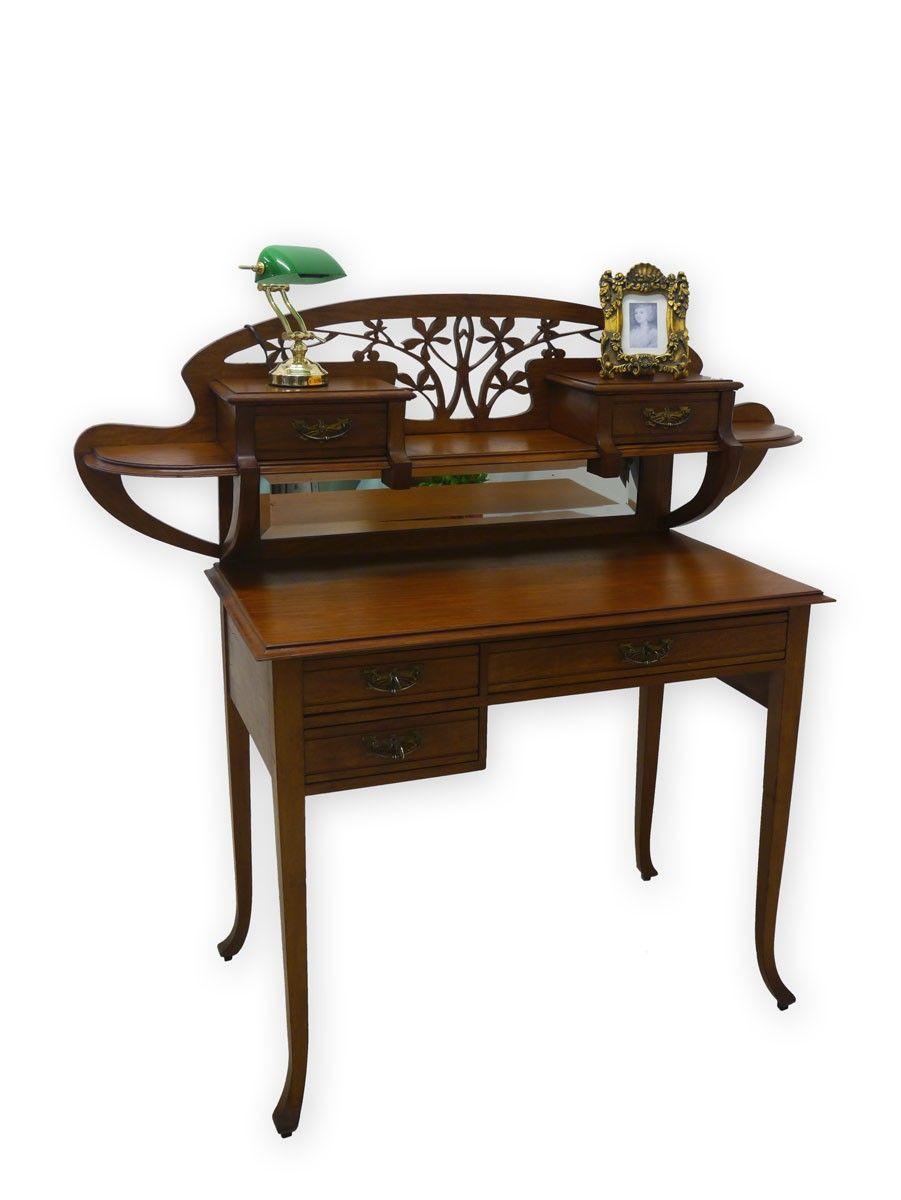 Schreibtisch Mit Aufsatz Damenschreibtisch Schreibmoebel Art Nouveau 2870 Art Deco Furniture Art Nouveau Design
