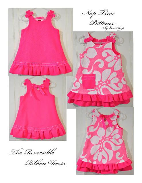 Free Sewing Pattern for Reversible A Line Dress  I can see making 3  coordinating dresses like this---one day! ad0d513778a9