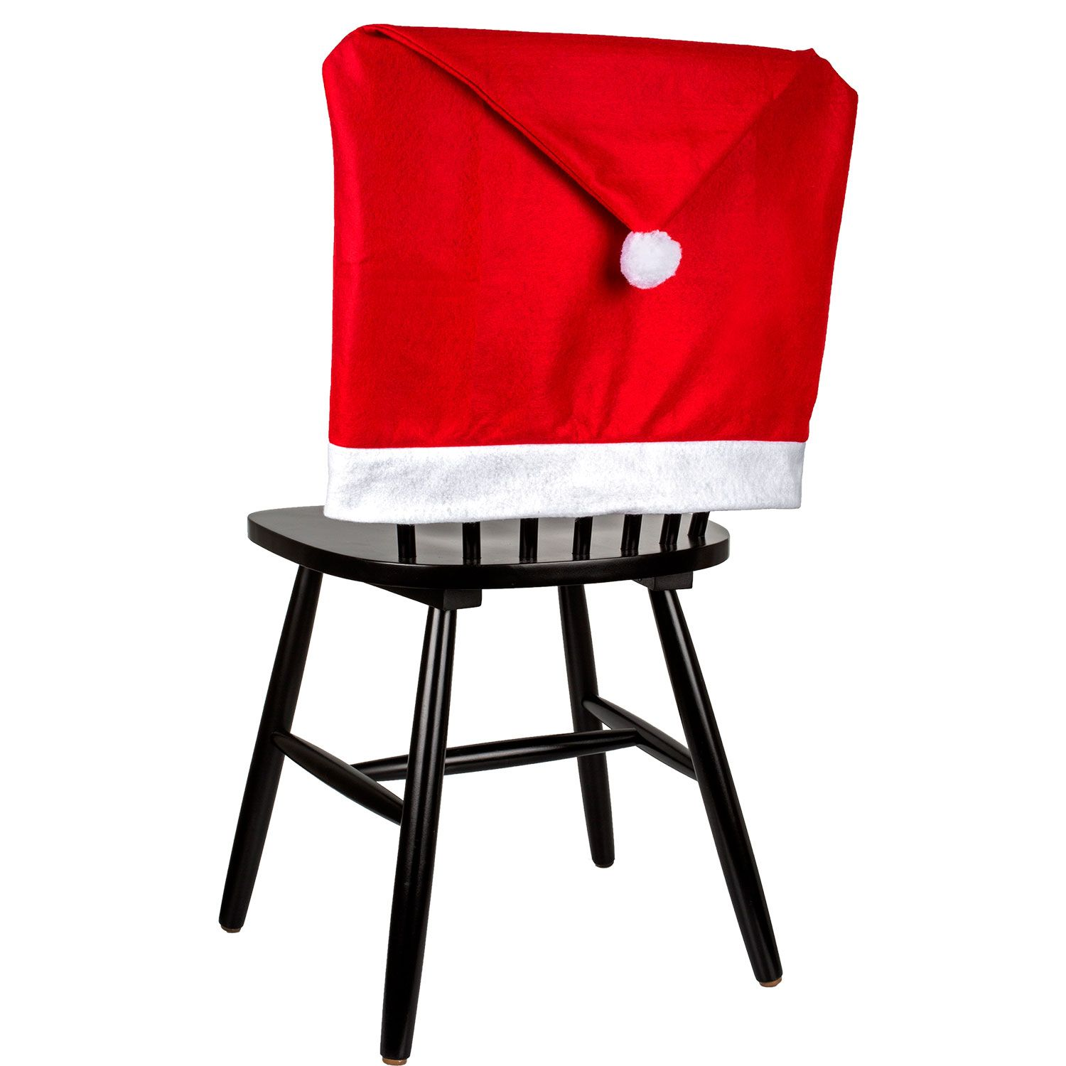 Christmas House Santa Hat Chair Covers, 19.5x23.5in