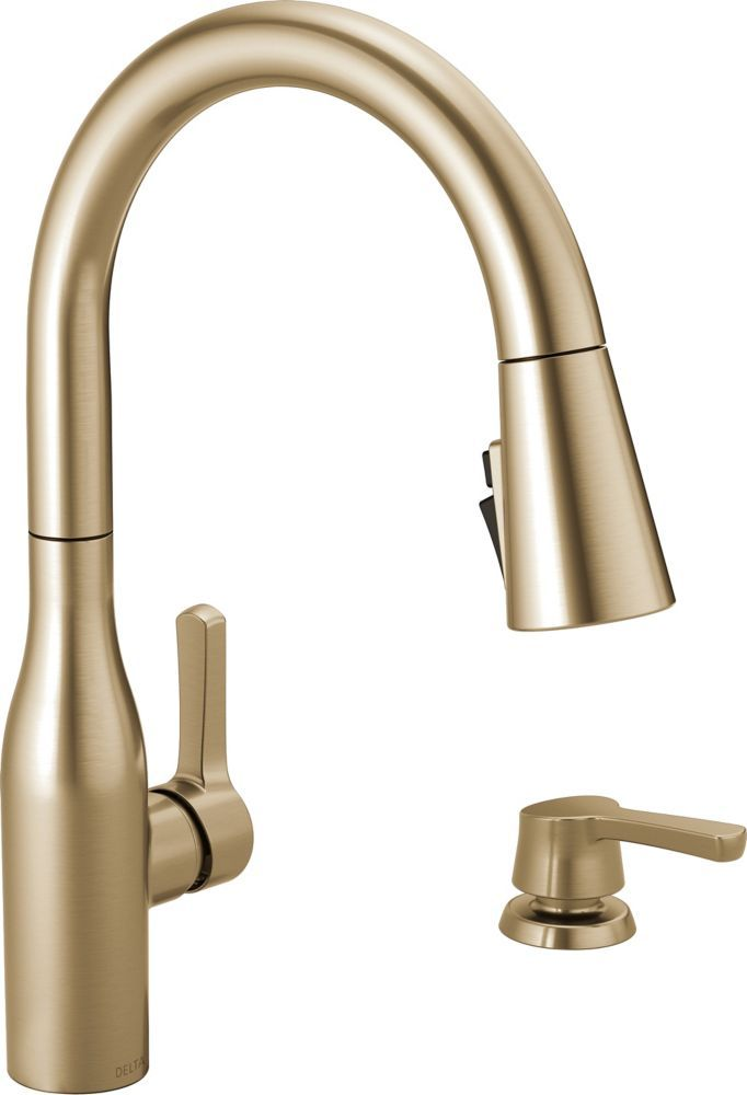 Marca Pull Down Kitchen Faucet With Soap Dispenser And Shieldspray