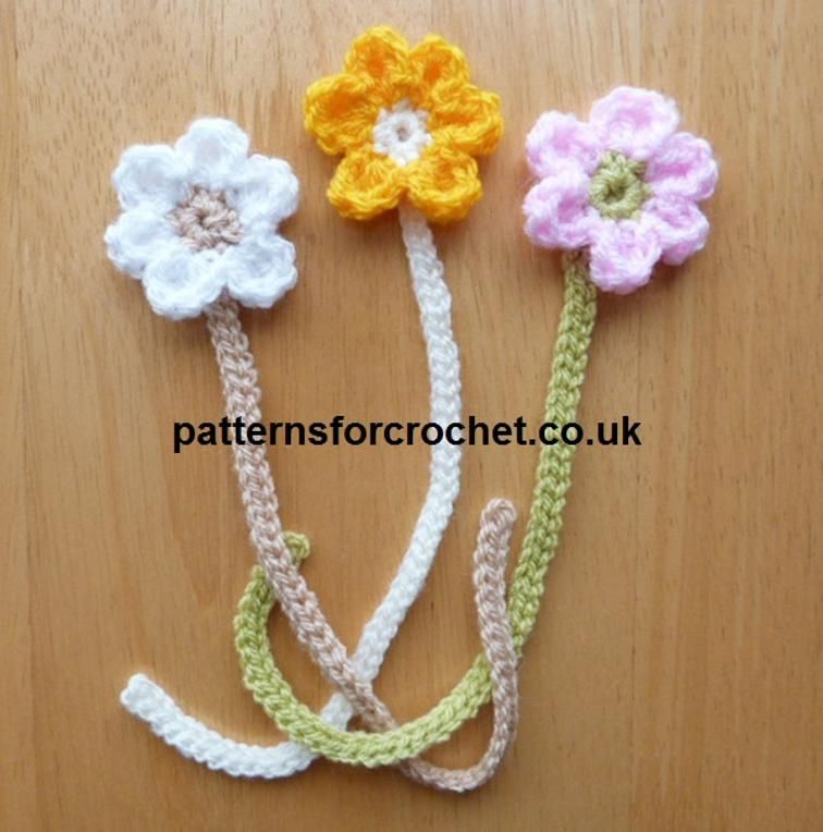 Flower Bookmark Crochet Pattern | free Craftsy download ... | Free ...