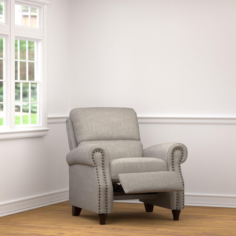 ProLounger Dove Grey Linen Push Back Recliner Chair | Overstock.com ...