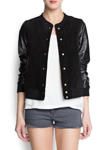 Mango Womens Leather Sleeved Bomber Jacket, Black, L MANGO,http://www.amazon.com/dp/B00CPQGMSQ/ref=cm_sw_r_pi_dp_KLvMrbA633F148A7