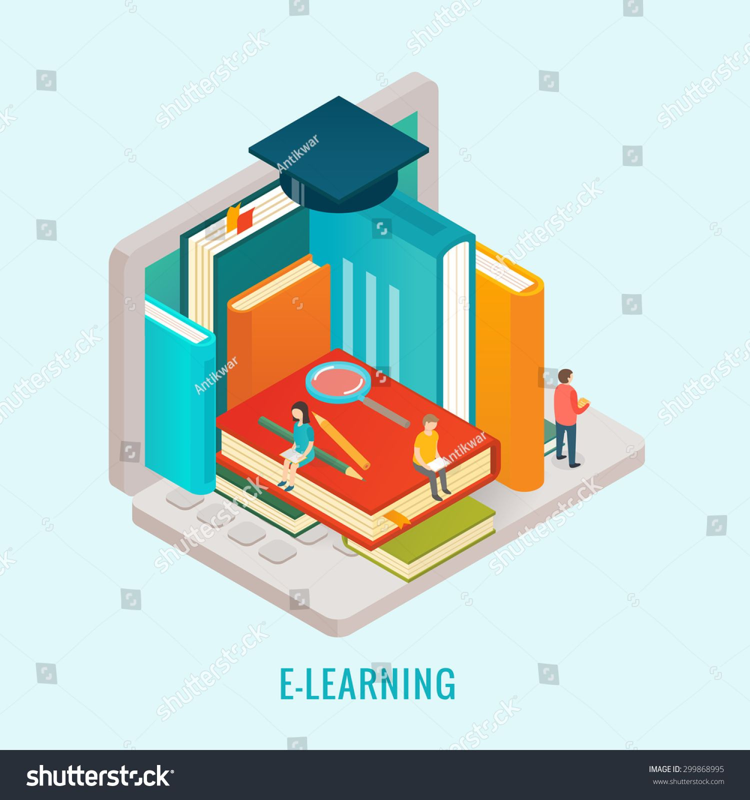 Isometric Education E Learning Concept Ad Sponsored Education Isometric Concept Learning Isometric Elearning Education