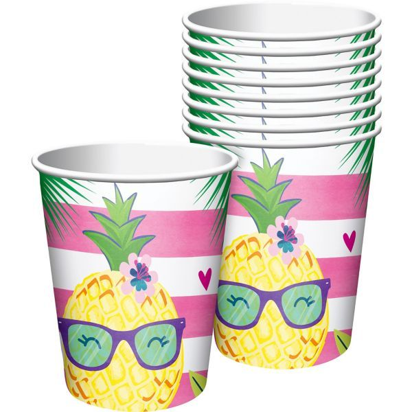 Striped Tropical Cups 8ct In 2020