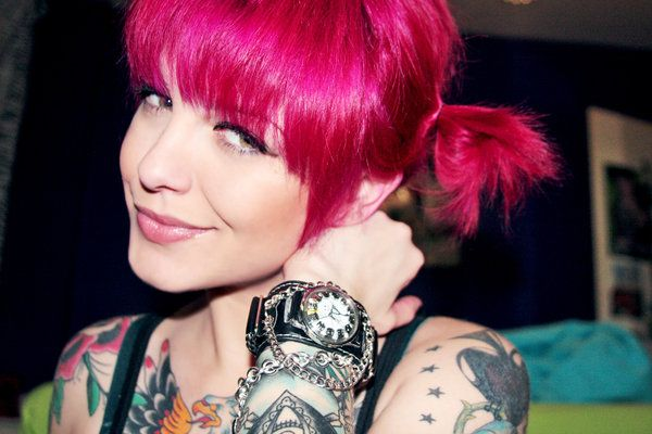 Bright Pink Hair Hair Styles Short Hair Styles Pigtail Hairstyles