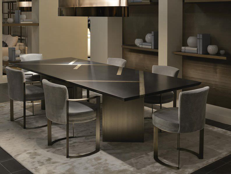 Sedia moderna in tessuto. a slitta ripetta luxury living id
