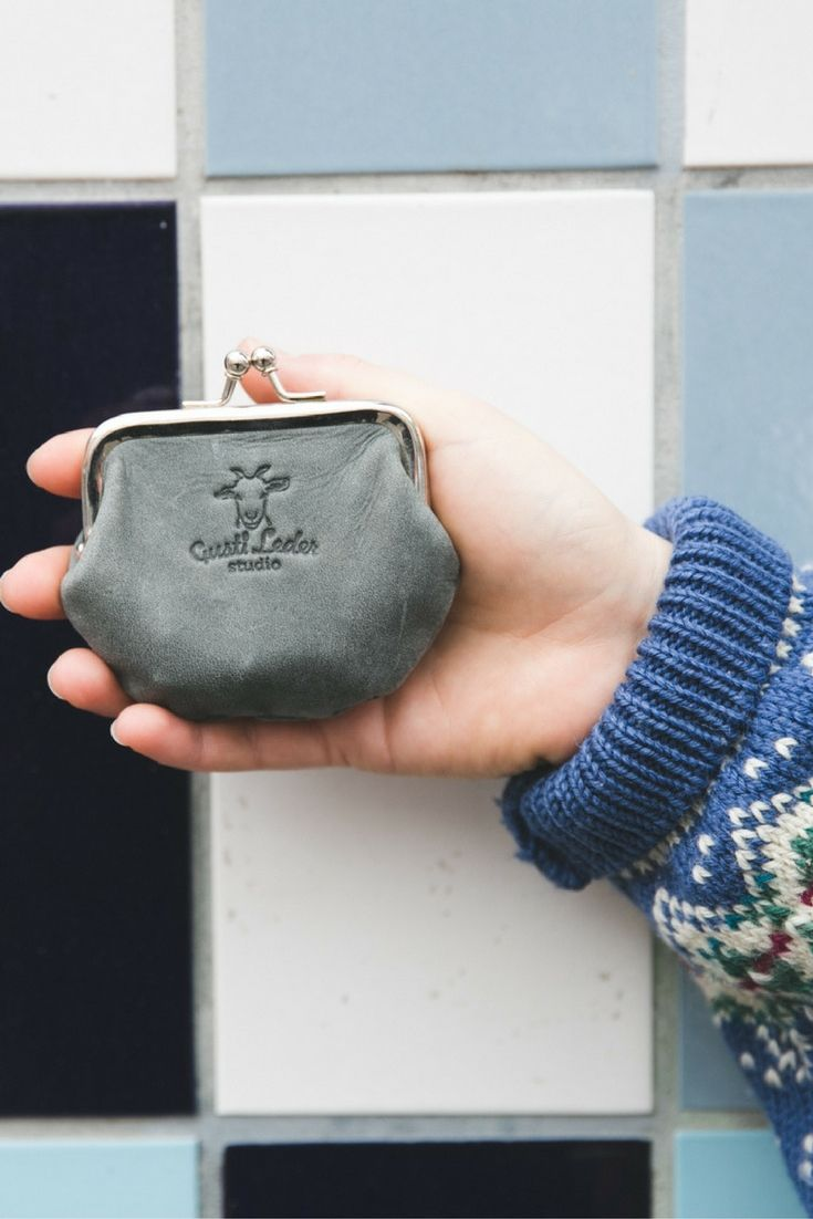 Especially high quality leather and stylish design makes this accessory so perfect. Great for cash, cards and coins, this little gem keeps things organised, while offering a touch of style to any outfit. Frida - Gusti leather - Gusti leder - Leather Wallet Purse