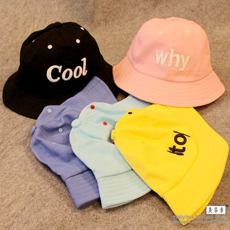 Candy Color cool stop what why my Fashion Camping Hiking Hunting Fishing Outdoor Cotton Black Bucket Hat Cap Hip Hop Men Women