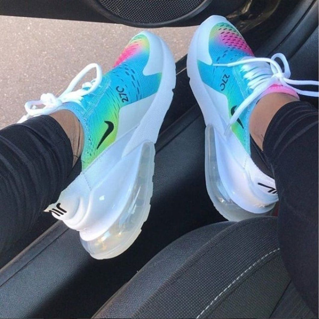 Air 270 Rainbow Nike sko, Rainbow nikes, Cute sko  Nike shoes, Rainbow nikes, Cute shoes
