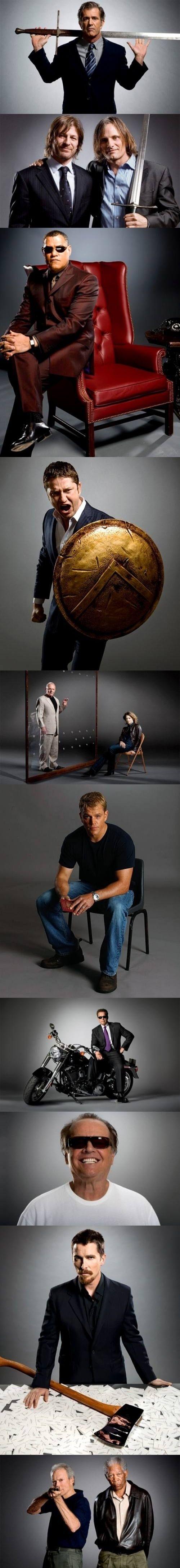 Famous actors recreating iconic roles