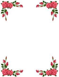 Pink Rose Border Clip Art Borders Flower Border Clipart Flower Border