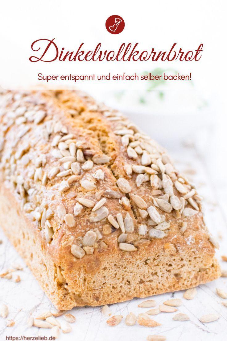 Kerniges Dinkel-Vollkorn-Brot mit Sonnenblumenkernen