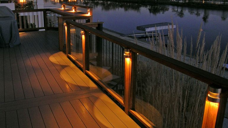 A Waterfront Deck Railing Is