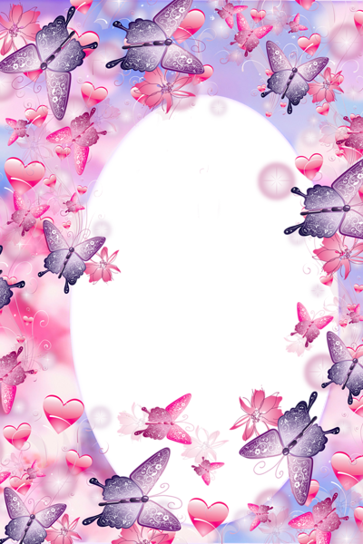 Leuk Frame Roze En Paars Vlinder Printabels Pinterest