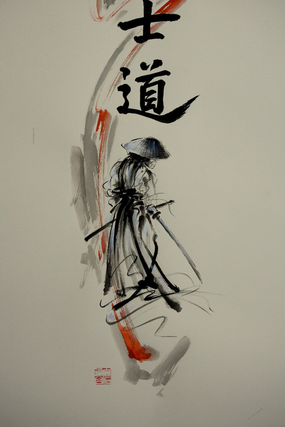 Bushido Way of the Samurai. Peinture moderne abstraite. | Pomysły na ...