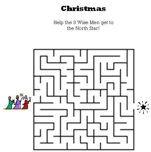 Christmas Maze for Kids Kids Bible Mazes Pinterest Maze - christmas word document template