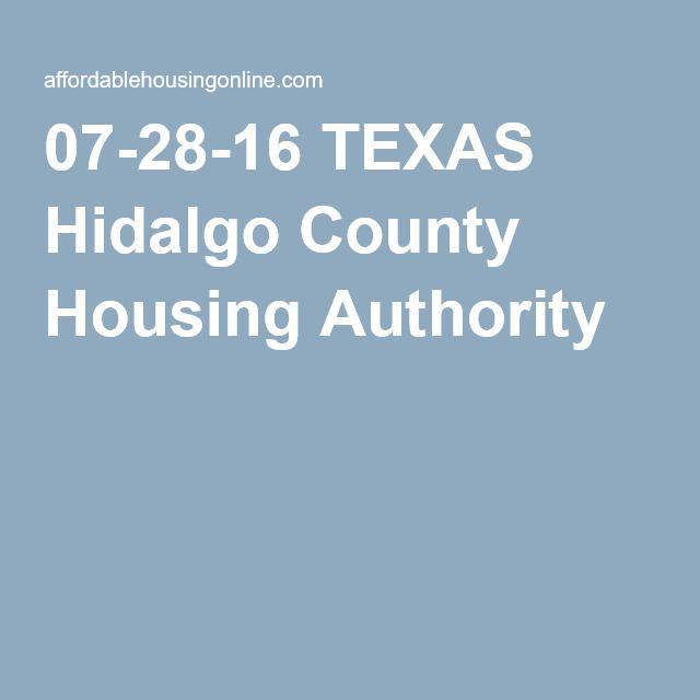 07-28-16 TEXAS Hidalgo County Housing Authority | SECTION 8