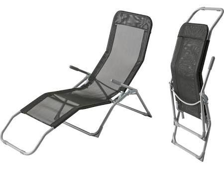 Cote Detente Transat / Chaise longue Siesta - Noir Transat ...