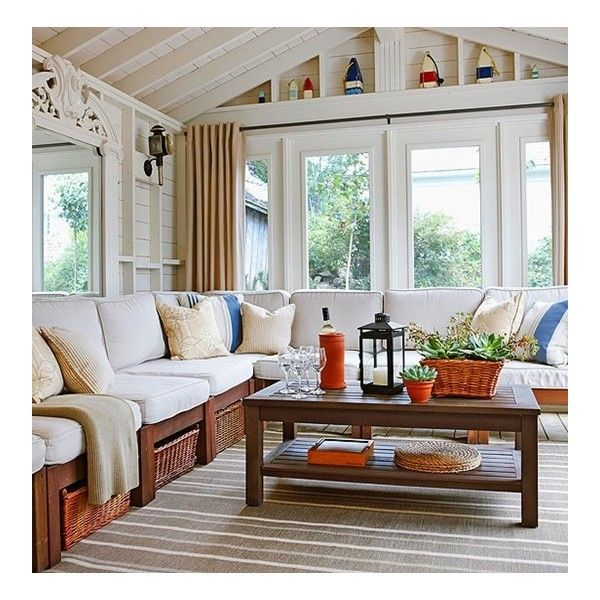 Outdoor Room Series Sunroom Style ❤ liked on Polyvore featuring living room