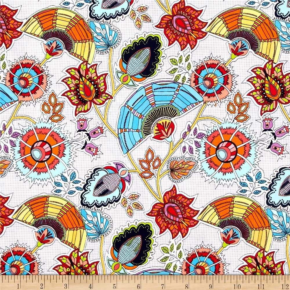 Riley Blake Sundance Main Gray Abstract, Abstract floral