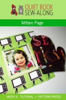 Quiet Book Sew-Along: Mitten Page – Printable Pattern & Tutorial {week 5}
