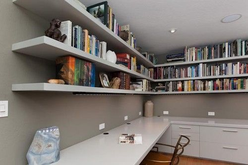 Custom Office Built-Ins contemporary home office