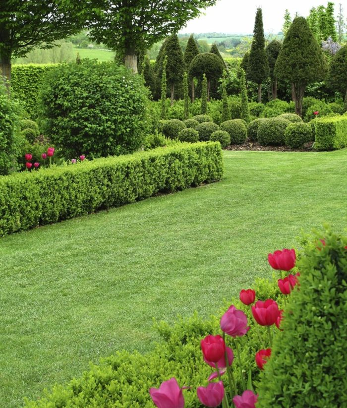Lieblich Garten Gestaltung Garten Pflanzen Landschaft Ideen