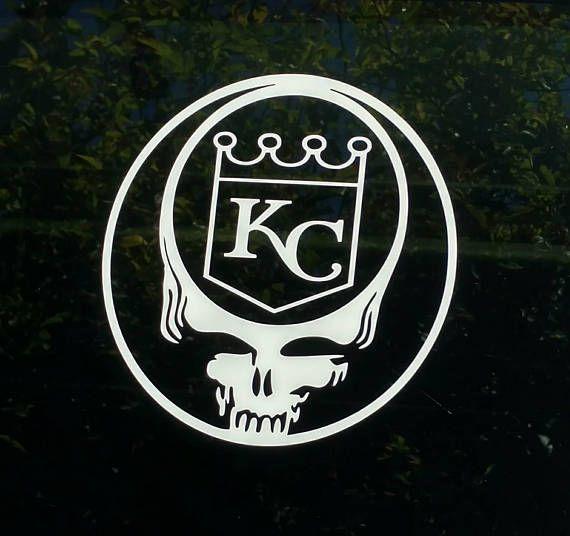 Grateful dead kc royals decal die cut vinyl sticker car truck window kansas city baseball logo syf stealie skull chiefs shirt custom decal