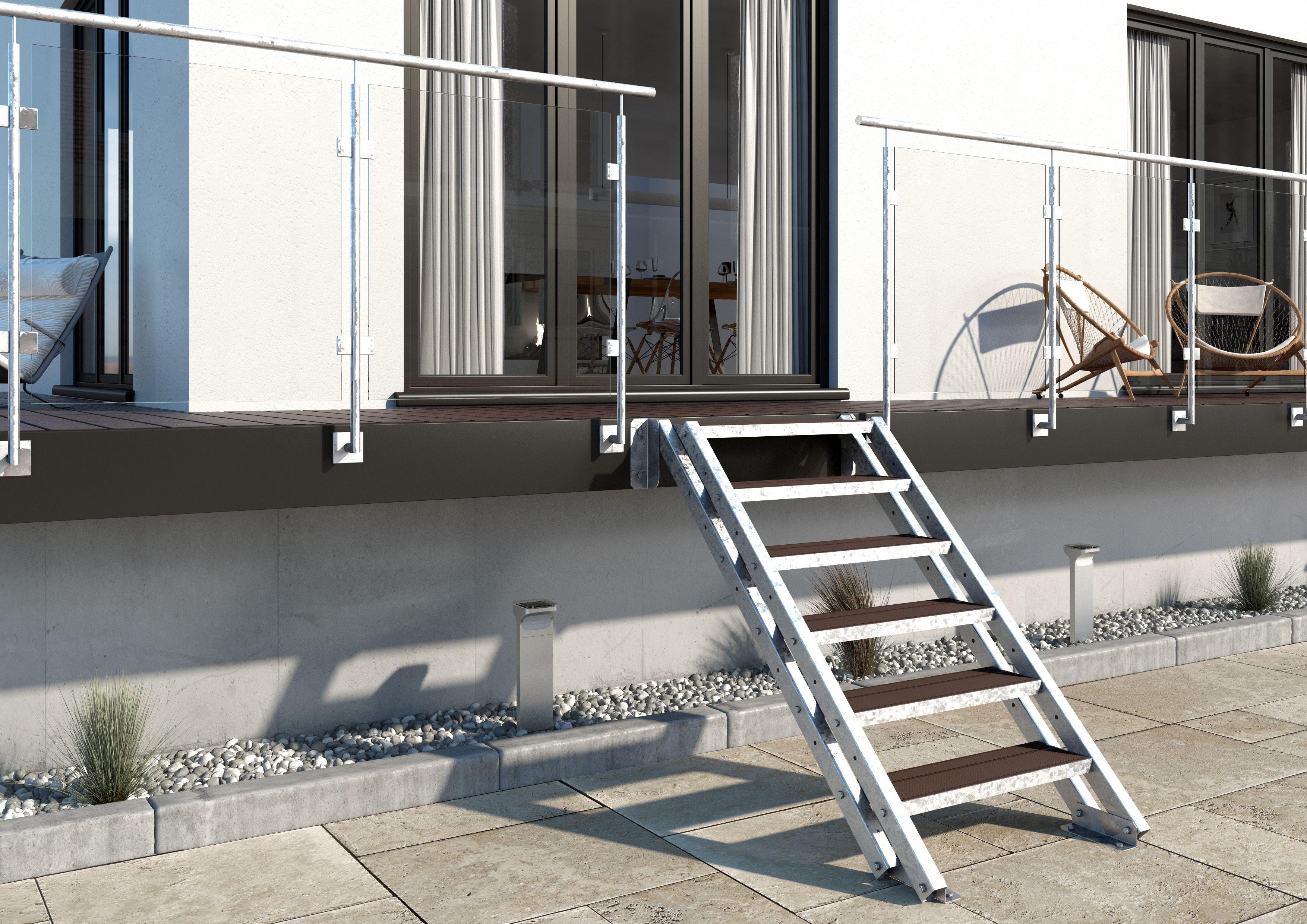 Treppen Ohne Geländer außentreppe york 6 stufen ohne geländer stufenbreite
